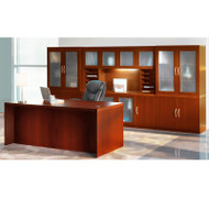 Mayline Aberdeen Executive Desk & Storage Cabinet Package Cherry - AT35-LCR