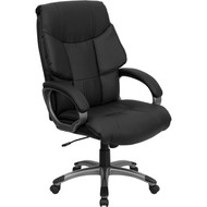 Flash Furniture High Back Black Leather Executive Office Chair - BT-9123-BK-GG
