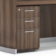 Mayline Medina Laminate Pedestal Drawer for Reception Desk (Box/Box/File) Assembled, Textured Brown Sugar - MNRBBF-TBS