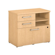 "Bush Business Furniture 400 Series Lower Piler Filer Cabinet 30"", Natural Maple - 400SFP30AC"