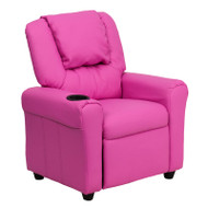 Flash Furniture Kid's Recliner with Cup Holder Hot Pink Vinyl - DG-ULT-KID-HOT-PINK-GG