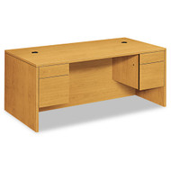 "HON 10500 Series Double 3/4 Pedestal Desk 72"", Assembled - 10593CC"