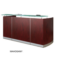 Mayline Medina Reception Station (No Pedestal Files) Mahogany - MNRS-LMH