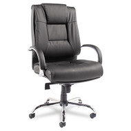 Alera Ravino Big & Tall Series High-Back Swivel Tilt Leather Chair - RV44LS10C