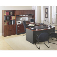 Bush Business Furniture Series C Package Executive U-Shaped Bowfront Desk Hansen Cherry - HCPackageF