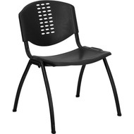 Flash Furniture HERCULES Series Polypropylene Stack Chair Black - RUT-NF01A-BK-GG