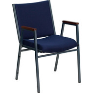 Flash Furniture HERCULES Series Heavy Duty Patterned Stack Chair with Arms Navy - XU-60154-NVY-GG