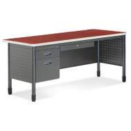 OFM Mesa Series Steel Single Pedestal Executive Desk 67 - 66366