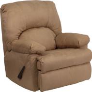 Flash Furniture Contemporary Montana Latte  Microfiber Suede Rocker Recliner - WM-8500-264-GG