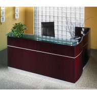 Mayline Napoli Veneer Reception Desk with Return Mahogany - NRS-NRR