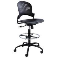Safco Zippi Plastic Extended-Height Drafting Chair Black - 3386BL