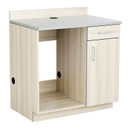 Safco Hospitality Appliance Base Cabinet , Vanilla Stix/Gray - 1705VS