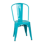 Flash Furniture Crystal Teal-Blue Metal Indoor-Outdoor Stackable Chair - ET-3534-CB-GG