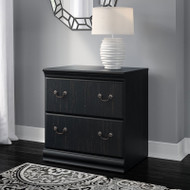 Bush Birmingham Executive Collection Lateral File Cabinet Antique Black- EX26971-03