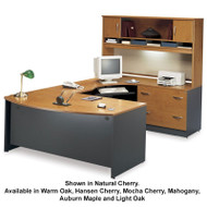 Bush Business Furniture Series C Package Executive U-Shaped Bowfront Desk - SC8A