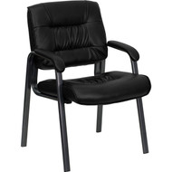 Flash Furniture Black Executive Side Chair with Titanium Frame Finish - BT-1404-BKGY-GG