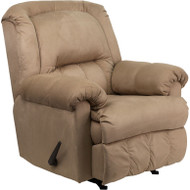 Flash Furniture Contemporary Padded Saddle Microfiber Rocker Recliner - HM-750-PADDED-SADDLE-GG