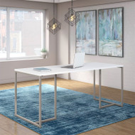 "Kathy Ireland by Bush Method Collection 72""W Table Desk White - KI70207K"