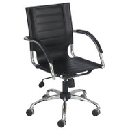Safco Flaunt Leather Managerial Mid Back Task Chair - 3456