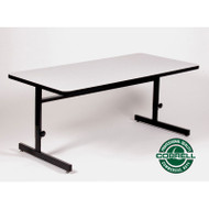 Correll High-Pressure Top Computer Desk or Training Table Adjustable Height 24 x 48 - CSA2448