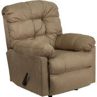 Flash Furniture Contemporary Padded Saddle Microfiber Rocker Recliner - HM-400-PADDED-SADDLE-GG