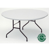 Correll R-Series Heavy Duty Blow-Molded Plastic Folding Table Round 60 - R60