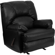 Flash Furniture Contemporary Apache Black Leather Rocker Recliner - WM-8500-371-GG