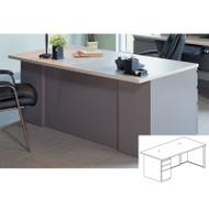 Mayline CSII Rectangular Desk with Box/Box/File Pedestal 36D x 60W - C1651
