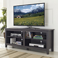 "Walker Edison Essential 58"" Wood TV Console Charcoal - W58CSPCL"