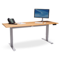 """OFM Versa Height Adjustable Table 72"""" Solid Bamboo Table Top Amber Finish - HAT-3072-PLN-AMB"""