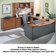 Bush Business Furniture Series C Package Executive U-Shaped Bowfront Desk - SC16
