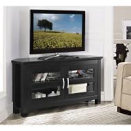 """Walker Edison Cordoba 44"""" Corner TV Console, Black - W44CCRBL"""