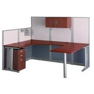Bush Furniture Office-in-an-Hour U-Shaped Desk Workstation Package - WC36496-03STGK