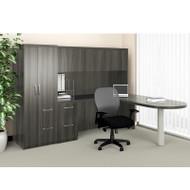 Mayline Aberdeen Executive L-Shaped Peninsula Desk Package Gray Steel - AT22-LGS