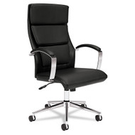 Basyx Black Leather Executive High-Back Chair - VL105SB11