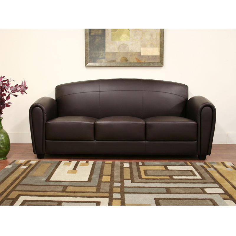 Wholesale Interiors Sally Brown Leather Modern Sofa - 3007-206 Sofa