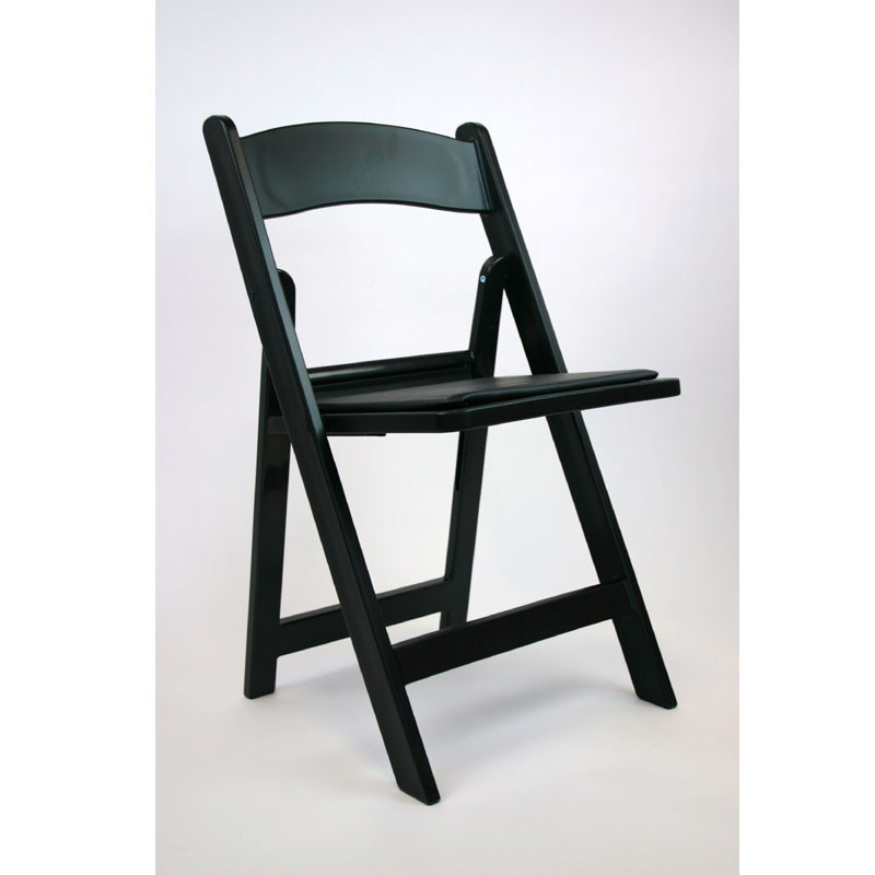Outstanding Resin Wedding Folding Chair Set Of 4 In Black Act6000 Ibusinesslaw Wood Chair Design Ideas Ibusinesslaworg