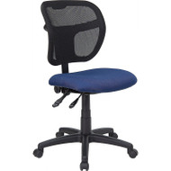 Flash Furniture Mid Back Mesh Task Chair with Navy Blue Fabric Seat - WL-A7671SYG-NVY-GG
