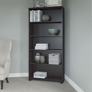 Bush Cabot Collection 5 Shelf Bookcase Espresso Oak - WC31866-03