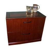 Mayline Sorrento Lateral File 2-Drawer Bourbon Cherry - SLF2-SCR