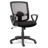 Alera Etros Series Mesh Mid-Back Swivel / Tilt Chair Black - ET42ME10B