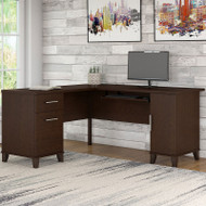 "Bush Somerset Collection L-Shaped Desk 60"" Mocha Cherry - WC81830"