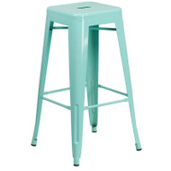 "Flash Furniture Mint Green Metal Indoor-Outdoor Barstool 30""H - ET-BT3503-30-MINT-GG"