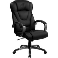 Flash Furniture High Back Black Leather Executive Office Chair - BT-9069-BK-GG