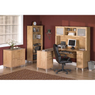 """Bush Somerset Collection L-Shaped Desk Package 60"""" Maple Cross - SOMPackageB"""