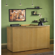Mayline Luminary Reception Desk With Return Maple - RS7278M