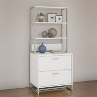 Kathy Ireland by Bush Method Collection Lateral File with Hutch White - MTH012WHSU