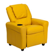Flash Furniture Kid's Recliner with Cup Holder Yellow Vinyl - DG-ULT-KID-YEL-GG