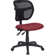 Flash Furniture Mid Back Mesh Task Chair with Burgundy Fabric Seat - WL-A7671SYG-BY-GG