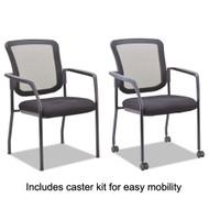 Alera Mesh Guest Stacking Chair Black - EL4314